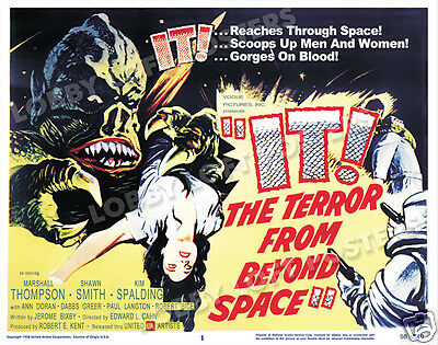 It The Terror From Beyond Space Lobby Title Card Poster 1958 Marshall Thompson