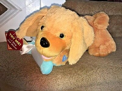 """Chantilly Lane Buddy Golden Retriever Puppy 12"""" Moves & Sings Count on Me W/Tags"""