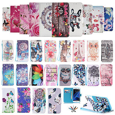 Flip Leather Magnetic Wallet Card Stand Case Cover For Samsung Galaxy S6 S7 Edge