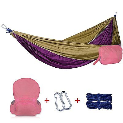 Parachute Material Hammock - Portable Outdoor Swing Fabric Camping Hanging Bed
