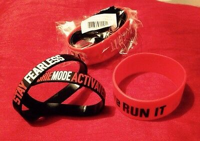 Wwe the bella twins we run it we rule it 3 piece wristband set new rare