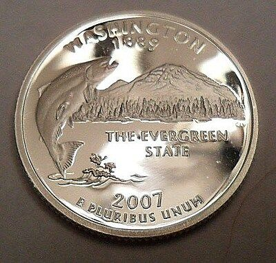 2007 S Washington  *90% Silver Proof*  State Quarter   **free Shipping**