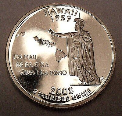2008 S Hawaii  *90% Silver Proof*  State Quarter   **free Shipping**