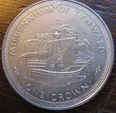 1979 one crown Isle of Man coin