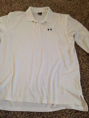 Under Armour Men's Large Long Sleeve Golf Shirt White