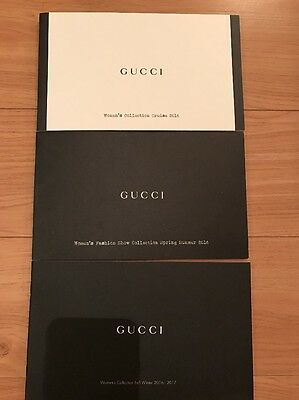 Auth Gucci Women's Collection 2016-2017 Fashion Clothing Runway 3 Catalog Set