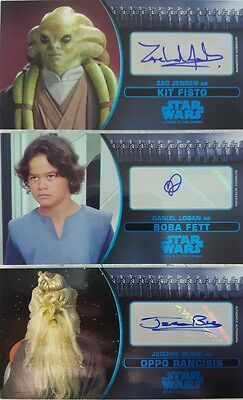 STAR WARS Attack Of The Clones 3D Autograph Card Singles WIDEVISION 2016 online