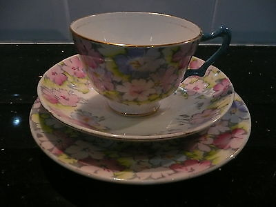 Lovely Vintage Crown Staffordshire Trio