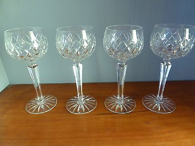 Crystal Red Wine Glasses/Goblets x 4 Vintage Bohemia