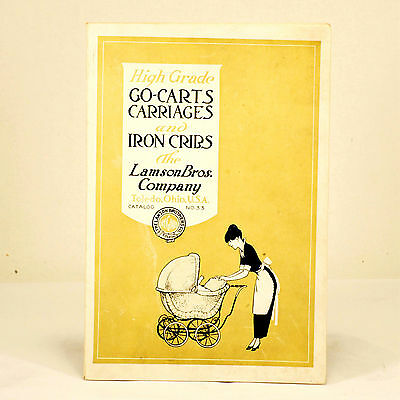 Antique Baby Stroller Advertising Catalog Lamson Brothers Toledo OH 1915