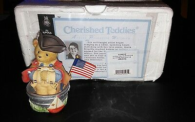 Cherished Teddies George Washington Flag MINT With Papers 545953