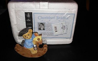 Cherished Teddies Paul Revere Rocking Horse MINT With Papers 676888