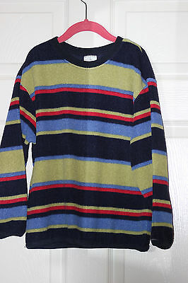 Kids Lands End 2-piece striped footed pajamas size S 7-8