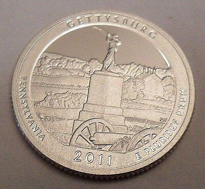 2011 S Gettysburg  *90% Silver Proof*  Atb Quarter   **free Shipping**