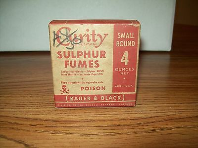 Vintage Curity Sulphur Fumes  Poison Unopened