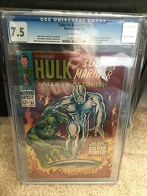 Tales to Astonish #93 CGC 7.5 Marvel Hulk and Silver Surfer