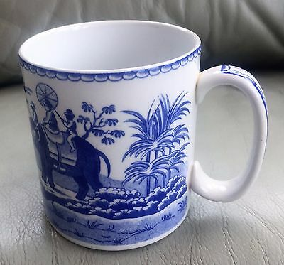 Spode Blue Room Collection Indian Sporting Big Game Hunting Mug
