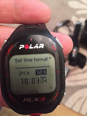 polar RCX3 heart rate watch