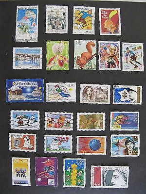 France - Lot 3 used stamps include Tintin