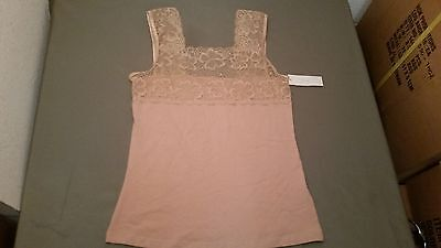 NWT PINK Brand Lace Trim Camisole Tank Top~Two Colors To Choose From