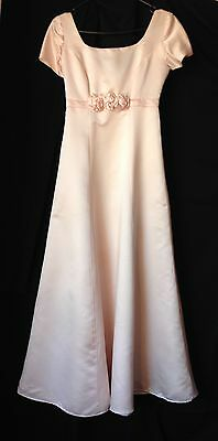 Vintage 60s light pink formal evening bridesmaids dress size XS
