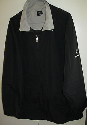 Mercedes Benz Size L Jacket With Reflective Collar Coat Zipper Front Car Logo