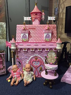 Zapf Creations, Huge Baby Born Castle with dolls and extras (ultra rare)