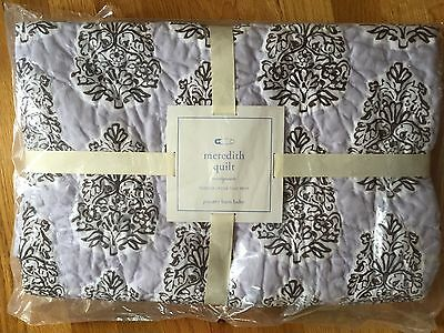 Pottery Barn Kids Baby NIOP Toddler Meredith Quilt Girl Lavender Brown Crib