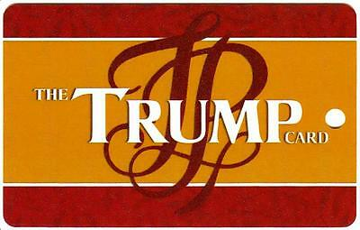 TRUMP PLAZA*THE TRUMP CARD drk red/gold*BLANK*AC Slot/Players card free ship