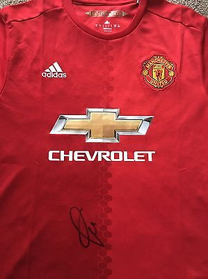 Paul Pogba Personally Signed Shirt 16/17 Manchester United France Man Utd PROOF