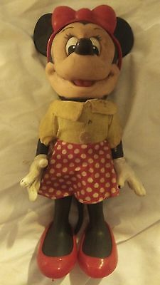 Vintage DISNEY  LIMITED EDITION MINNIE MOUSE Rubber Figure NEW W/O TAG FREE SHIP