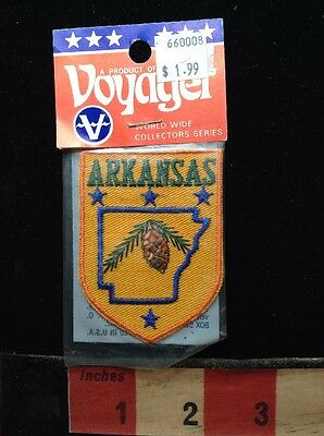 Vtg State Of ARKANSAS Patch ~ Unopened Voyager Brand Version 71WO