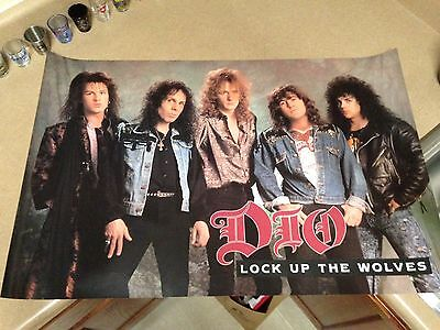 """Dio  - """"lock Up The Wolves"""" - 1990 -  23 X 35 - New Promo Poster"""