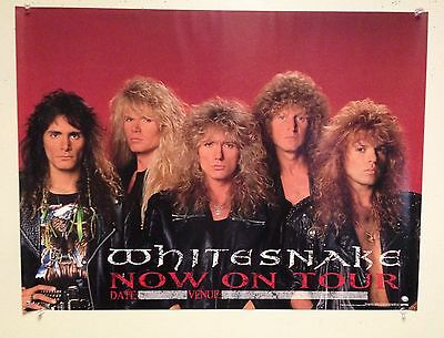 "WHITESNAKE  - ""ON TOUR"" - 1990 PROMO POSTER - Slip Of The Tongue New Never used"