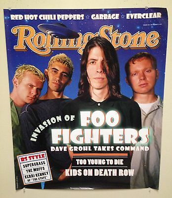 "FOO FIGHTERS - ""Rolling Stone"" 1995 poster (25x30) - NEW/UNUSED"