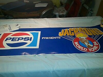 1984 THE JACKSONS world tour 6 foot Store Display Poster Michael Jackson