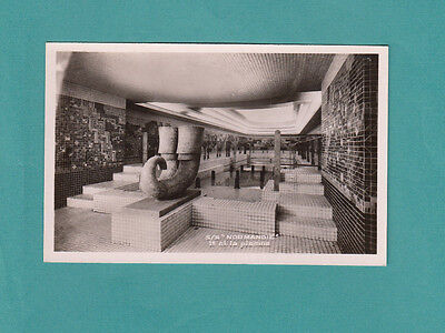 Ss France French Line Cruise Ship Normandie  Swimming Pool Postcard Real Photo