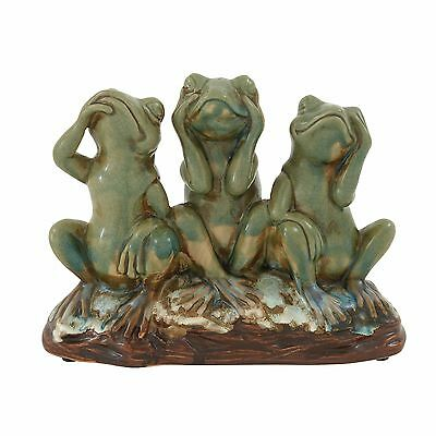 Home Decor Astwood Lovely and Righteous Frog Figurine Amphibious Animal Ceramic