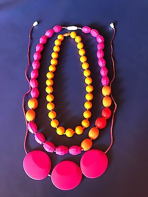 3 New Silicone Teething Necklaces