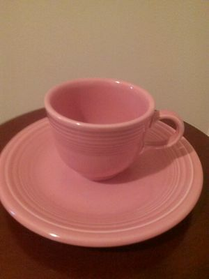 Homer Laughlin China Co. Fiesta Ware Rose Cup And Saucer Set