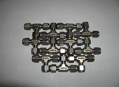 (11) NEW Swagelok Stainless Steel Union Tee Tube Fittings SS-400-3