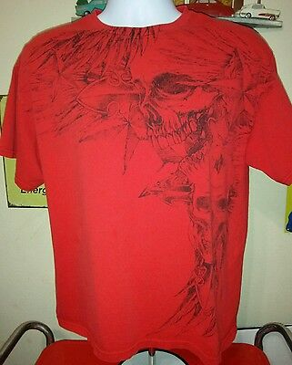 MMA Elite Graphic T-Shirt Red Adult Size Large