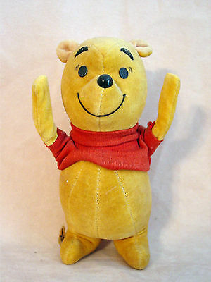 Standing Winnie the Pooh From 1964 - Velvet with Red Shirt made by Gund