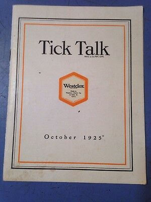 Antique 1925 Westclox Tick Talk Magazine Or Pamphlet