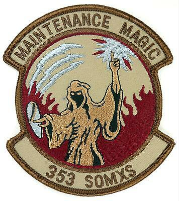 USAF 353d SOMXS SPECIAL OPERATIONS MAINTENANCE SQUADRON PATCH