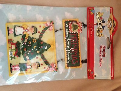 Mary Engelbreit - Christmas Is A Time For Sharing Plaque By Enesco - New