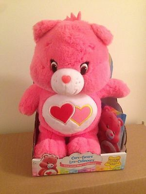 "Care Bears - 14"" Love A Lot Bear With Dvd Hard To Find 2015"