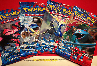 4 x Pokemon XY Booster Packs (10 Cards/pack) - Factory Sealed