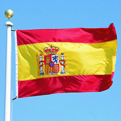 New large 3'x5' Spanish flag the Spain National Flag ESP HIYG