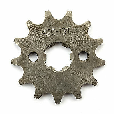 Pit Bike Front Sprocket 420 13 Tooth Teeth 17mm Hole 90cc 110cc 125cc 140cc